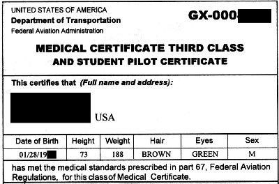 3rd class medicalPRIVATE PILOT INSIDER